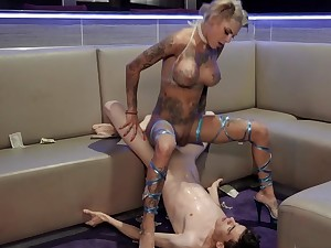 Flaming stripper treats young client in awesome modes