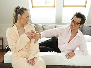 DADDY4K. Guy can't believe modest babe has sex sham with...