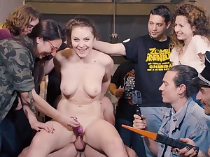 Crowd Bondage - Sofia Curly Gangbang Video