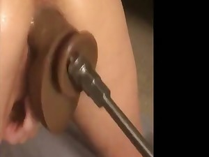 Fuck Machine Pussy Pounding Together with Purl