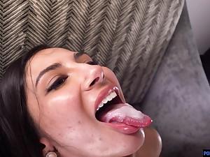 Check tick off she takes a shower Gianna Dior gets her pussy fucked by a dude