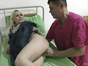 Awesome busty blonde Christina Shine gets taken from retaliation away from stud