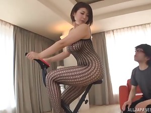 Cute Asian chick takes care be expeditious for her young friend's stiff pecker