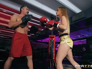 after a match Sloan Harper wants to fuck with her handsome strong right arm