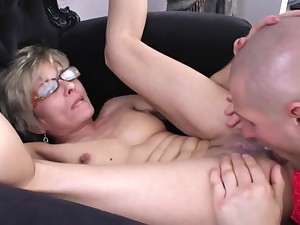 Attractive Skinny 50+ Mature With Glasses - lisa sparxxx