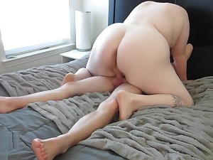 Fat Pussy Made Him Cum Spitting image In 8 Minutes!! - Madeline Roux