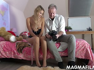 Naughty chick Casey is having libellous sex fun with hot blooded elder dude