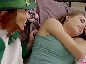 Stepdad wakes up step daughter Kyler Quinn with his fixed and big dick