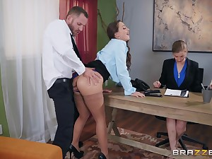 Abigail Mac pounding her experimental big gun in the lead office yon get the job