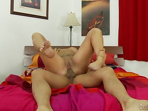Thick tattooed milf gets fucked away from an Asian dude