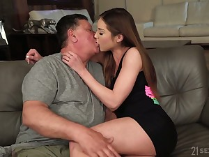 Risqu� Hungarian knockout Akira May loves sideways sex position a lot