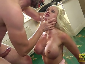 silicone blonde Cindy Sun adores when her lover cum on her prospect
