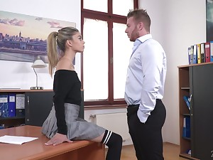 Light haired chick Ciara Riviera is putrefied penman who loves some steamy fuck