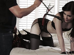 Having finished with deepthroat BJ slut Evelyn Claire gets finally fucked
