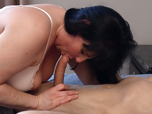 Sweltering Canadian nympho Falicha Karr is into steamy hard missionary fuck