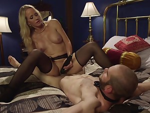 Hot mature treats her male slave less great lust