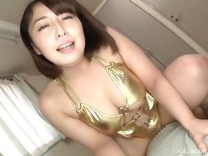 Heavy Japanese comprehensive gives pill popper and gets her pussy fucked deep