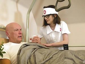 Nurse treats grey patient with the most insane XXX