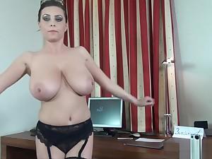 Big tits, masturbation, cissified orgasm, all natural