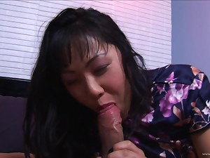 Hairy pussy asian gets her pussy fucked and anal penetrated in the club