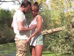 Adam Black will not at any time forget the quickie on touching the forest with pretty detach from