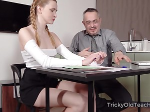 Aged instructor is fucking good-looking hot student Ivi Rein increased by cums on her tushy
