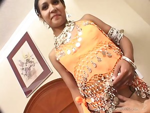 Hot creampie fills her wet Indian pussy in fuck motion picture
