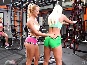 Fit babes are utterly sexual increased by they love sapphic threesomes
